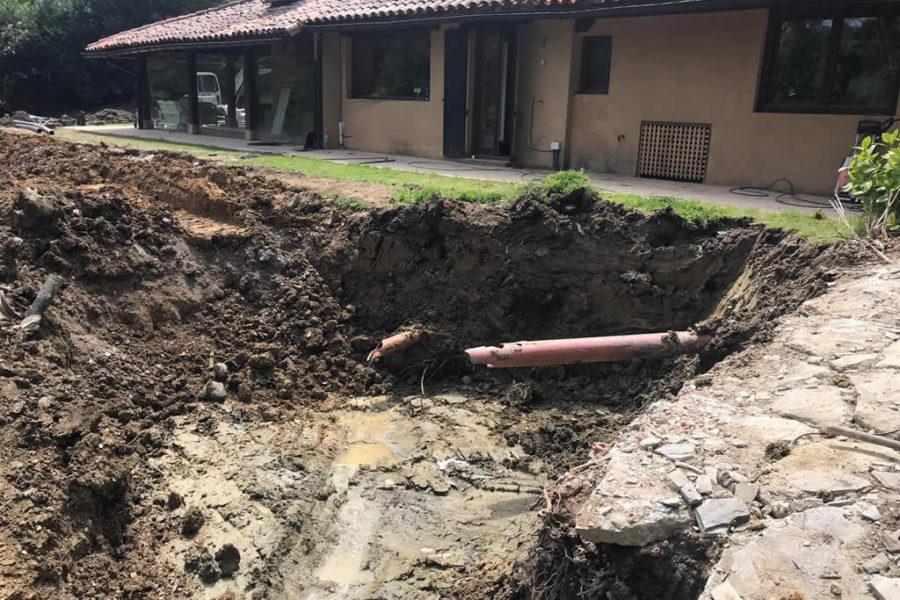 Desprendimiento de tierra en Gipuzkoa. Reacondicionamiento