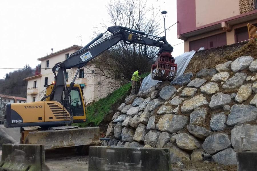 Construcción de escollera en Gipuzkoa