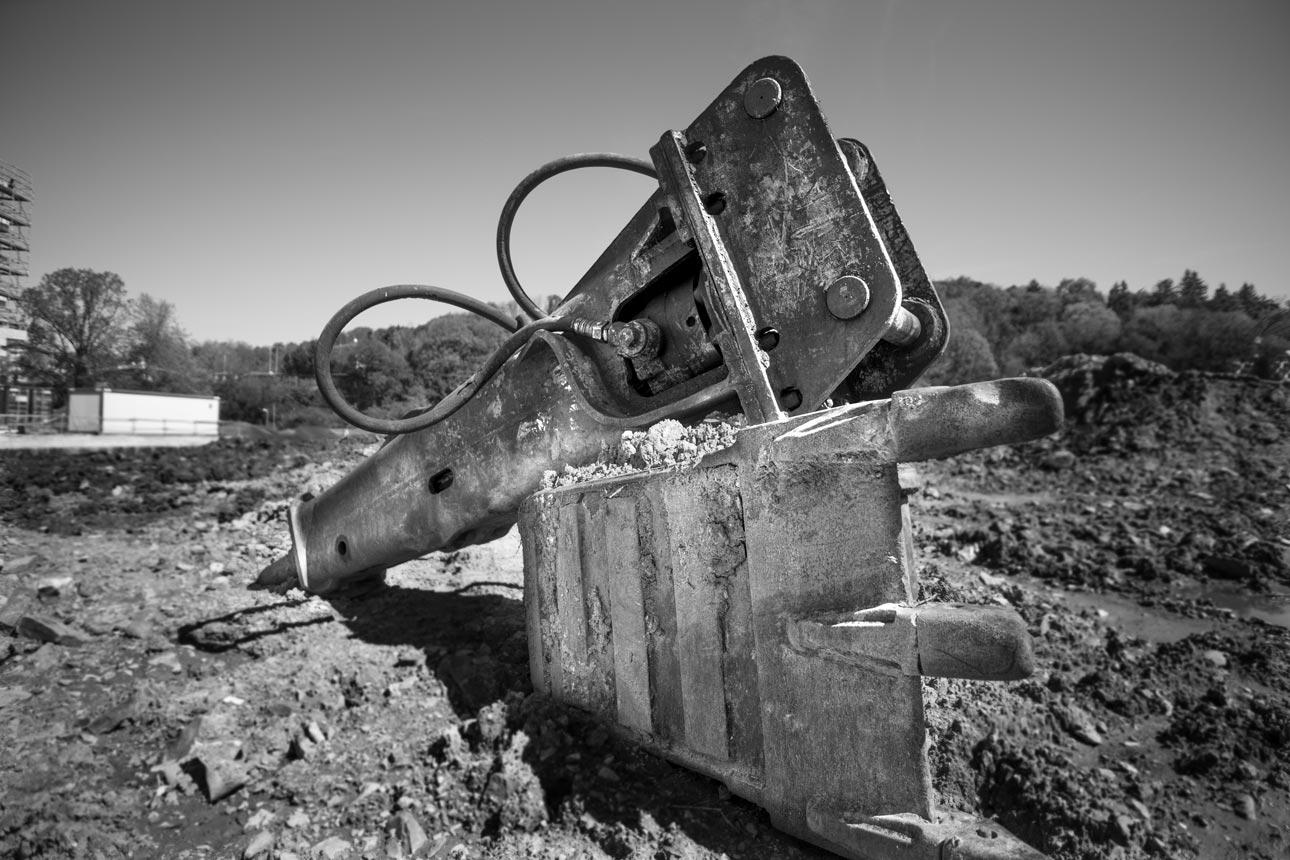 Trabajos con excavadora hechos en el pasado
