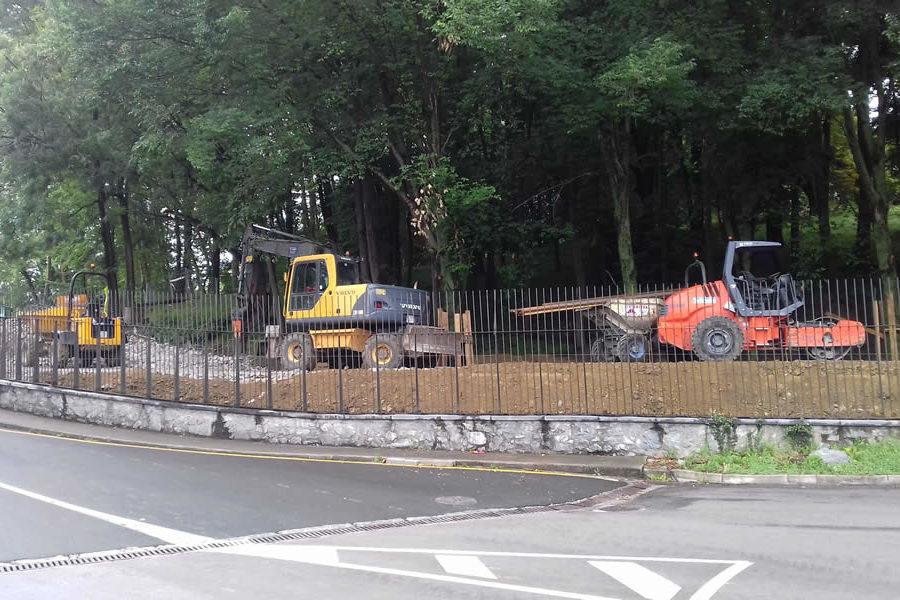 Arreglo de caminos en Cristina Enea, Donostia